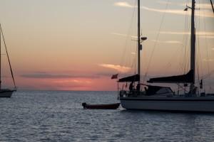 Sunset Highborn Cay Exumas